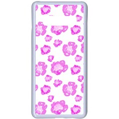 Pink Flower Samsung Galaxy S10 Plus Seamless Case(white) by scharamo