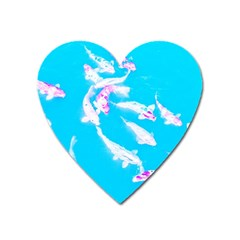 Koi Carp Scape Heart Magnet by essentialimage