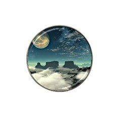 Lunar Landscape Space Mountains Hat Clip Ball Marker by Simbadda