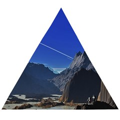 Saturn Landscape Mountains Wooden Puzzle Triangle