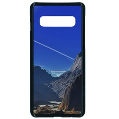 Saturn Landscape Mountains Samsung Galaxy S10 Seamless Case(black)