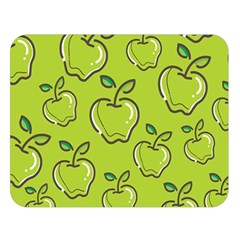 Fruit Apple Green Double Sided Flano Blanket (large)