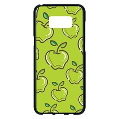 Fruit Apple Green Samsung Galaxy S8 Plus Black Seamless Case