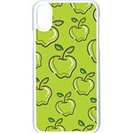 Fruit Apple Green iPhone X Seamless Case (White) Front