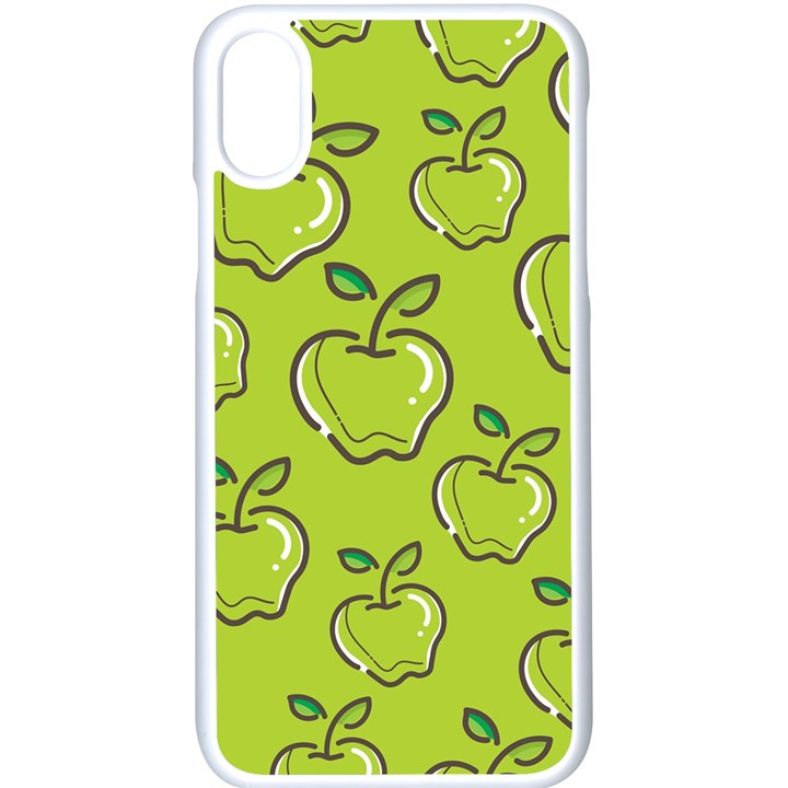 Fruit Apple Green iPhone X Seamless Case (White)