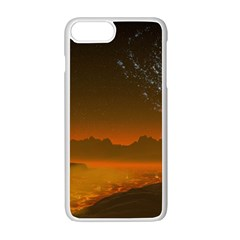 Galaxy Galaxies Bump Together Lava Iphone 7 Plus Seamless Case (white)