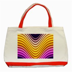 Wave Line Waveform Sound Orange Classic Tote Bag (red)