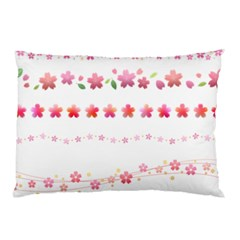 Sakura Border Cherry Blossom Pillow Case (two Sides)