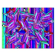 Stars Beveled 3d Abstract Rectangular Jigsaw Puzzl by Mariart