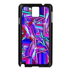 Stars Beveled 3d Abstract Samsung Galaxy Note 3 N9005 Case (black) by Mariart