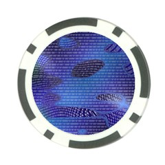 Binary Digitization Null Poker Chip Card Guard (10 Pack) by AnjaniArt