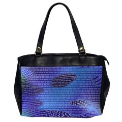 Binary Digitization Null Oversize Office Handbag (2 Sides) by AnjaniArt
