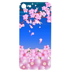 Sakura Cherry Blossom Night Moon Iphone 7/8 Soft Bumper Uv Case by Simbadda