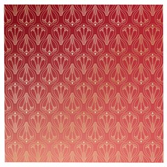 Red Gold Art Deco Art Deco Background Wooden Puzzle Square