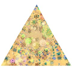 Flowers Color Colorful Watercolour Wooden Puzzle Triangle by Simbadda