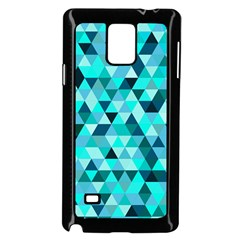 Teal Triangles Pattern Samsung Galaxy Note 4 Case (black) by LoolyElzayat