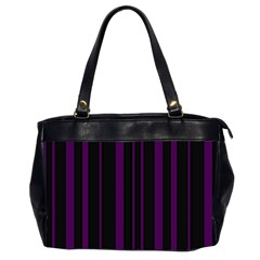 Deep Purple Pinstripe Oversize Office Handbag (2 Sides) by designbywhacky