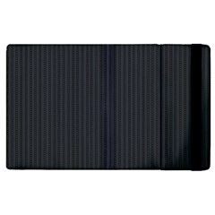 Grey Pinstripe Apple Ipad 2 Flip Case by designbywhacky