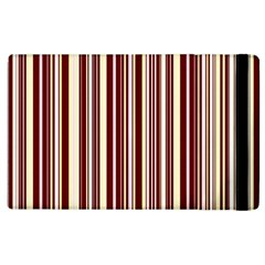 Burgundy Pinstripe Apple Ipad 2 Flip Case by designbywhacky
