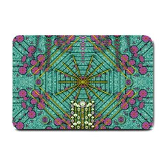 The Most Beautiful Rain Over The Stars And Earth Small Doormat  by pepitasart
