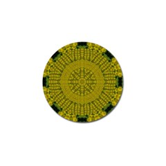 Flowers In Yellow For Love Of The Nature Golf Ball Marker (10 Pack) by pepitasart