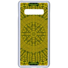 Flowers In Yellow For Love Of The Nature Samsung Galaxy S10 Plus Seamless Case(white) by pepitasart