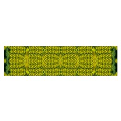 Flowers In Yellow For Love Of The Decorative Satin Scarf (oblong) by pepitasart