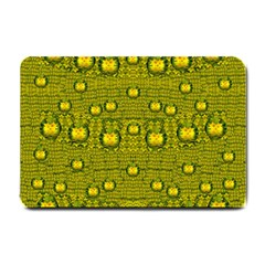 Flower Island With A Sunrise So Peaceful Small Doormat  by pepitasart