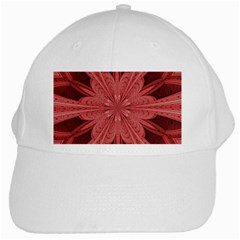 Background Floral Pattern White Cap by Jojostore