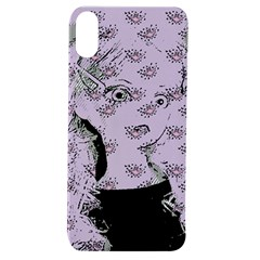 Wide Eyed Girl Lilac Apple Iphone Xs Tpu Uv Case by snowwhitegirl