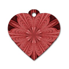 Background Floral Pattern Dog Tag Heart (two Sides)