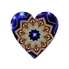 Background Mandala Star Heart Magnet by Mariart