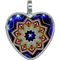 Background Mandala Star Heart Necklace by Mariart