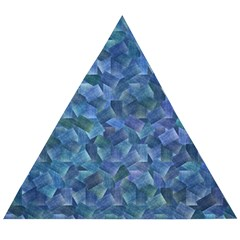 Background Blue Texture Wooden Puzzle Triangle