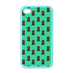 Nerdy 60s  Girl Pattern Seafoam Green Iphone 4 Case (color) by snowwhitegirl
