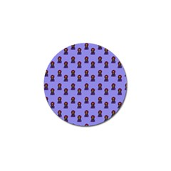 Nerdy 60s  Girl Pattern Purple Golf Ball Marker (10 Pack) by snowwhitegirl
