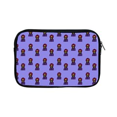 Nerdy 60s  Girl Pattern Purple Apple Ipad Mini Zipper Cases by snowwhitegirl