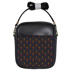 Nerdy 60s  Girl Pattern Grey Girls Sling Bag