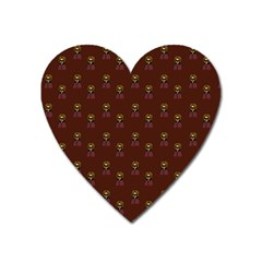 Nerdy 60s  Girl Pattern Red Heart Magnet by snowwhitegirl
