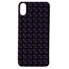 Lilac Firecracker Heart Pattern Apple Iphone Xs Tpu Uv Case