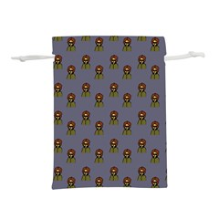 Nerdy 60s  Girl Pattern Light Grey Lightweight Drawstring Pouch (m)