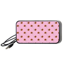 Peach Rose Pink Portable Speaker