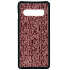 Knitted Wool Rose Samsung Galaxy S10 Seamless Case(black)