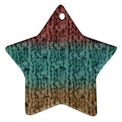 Knitted Wool Ombre 1 Star Ornament (two Sides)