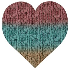 Knitted Wool Ombre 1 Wooden Puzzle Heart