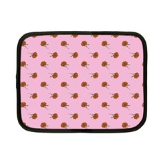 Peach Rose Pink Netbook Case (small)