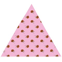 Peach Rose Pink Wooden Puzzle Triangle
