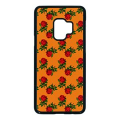 Red Roses Orange Samsung Galaxy S9 Seamless Case(black)