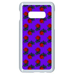 Red Roses Blue Purple Samsung Galaxy S10e Seamless Case (white) by snowwhitegirl