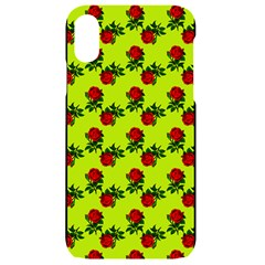 Red Roses Lime Green Iphone Xr Black Uv Print Case